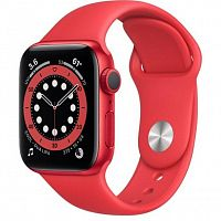 Смарт-часы Apple Watch Series 6 GPS 40mm (PRODUCT)RED Aluminum Case w. (PRODUCT)RED Sport B. (M00A3) Новинка