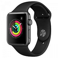 Смарт-часы Apple Watch Series 3 GPS 38mm Space Gray with Black Sport Band (MTF02)